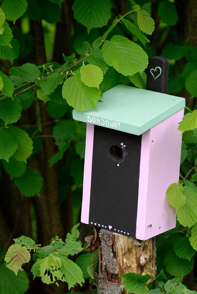 En fin fågelholk kan locka småfåglarna till trädgården