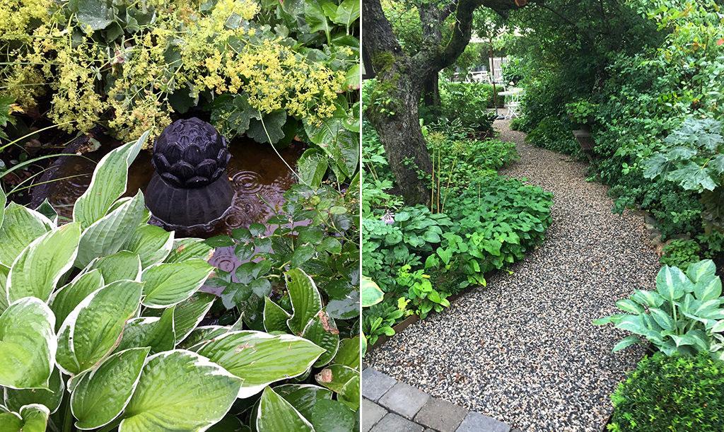 Årets trädgård 2017 hittar vi hos Charlotte i Sundsvall.