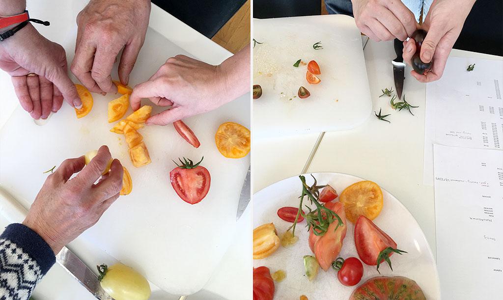 Det är en smaksak – men förutom balansen mellan sötma och syra bedöms även konsistens i fruktkött och skal. Foto: Lovisa Back