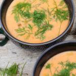 Dillsoppa med dill odlad i kökets kryddor. Foto: Annika Christensen