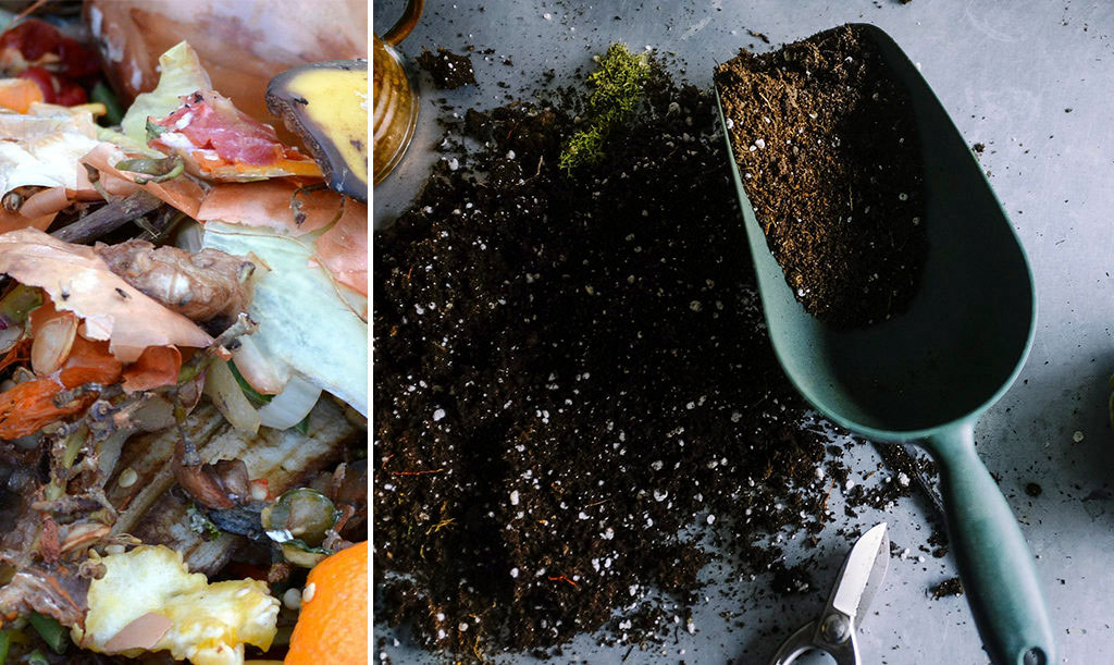 Visst kan du kompostera och göra din egen jord i lägenhet.