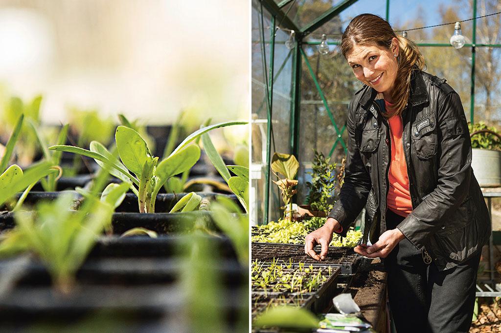 Jessica Lyon i sitt växthus. Foto: Lars Sjöberg
