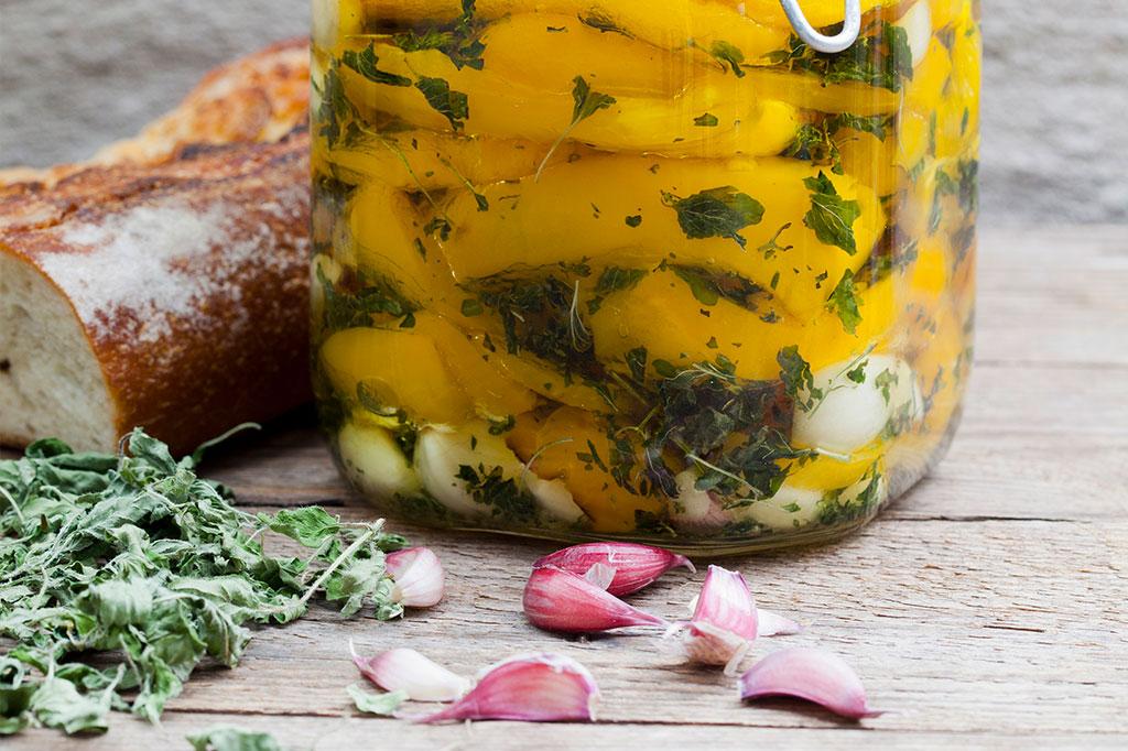 Inlagd, grillad paprika 'Zazu' Foto: Annika Christensen