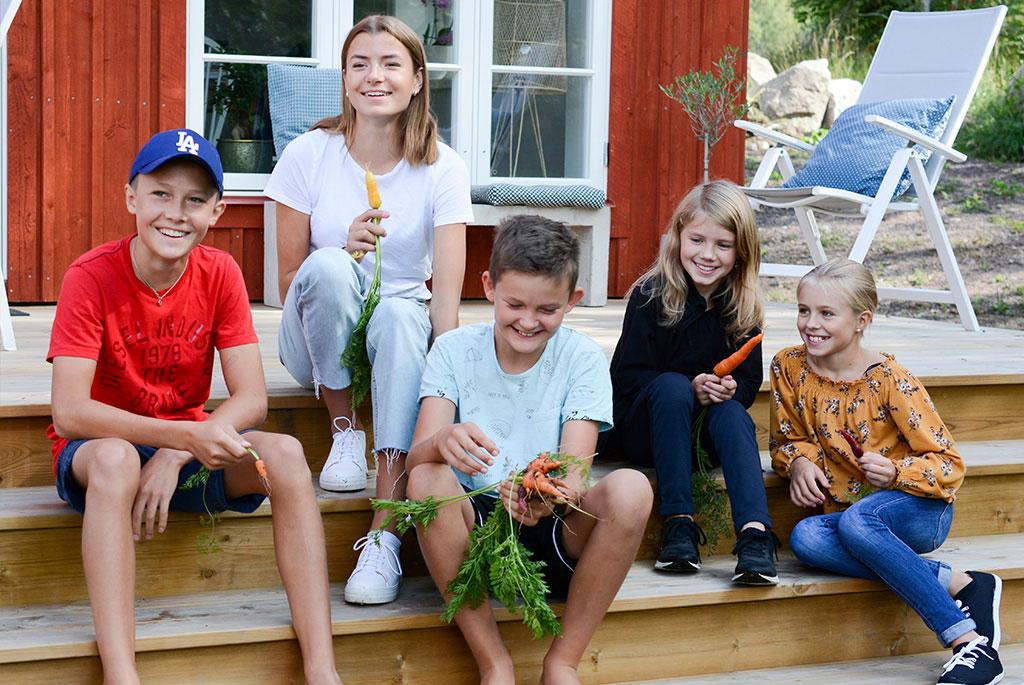 Expertpanelen från vänster; Malte, Olivia, Algot, Tyra och Ellen. Foto: Sofie Persson