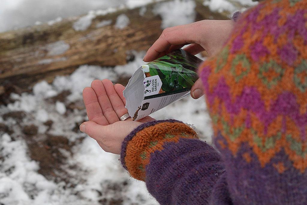 Så i snö, Sara Bäckmo. Foto: Markus Danielsson