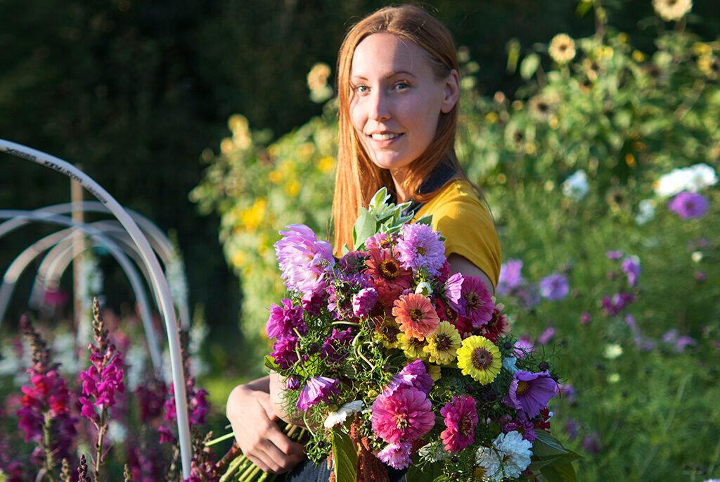 Foto på – och av – blomsterbonden Lovisa Wendt
